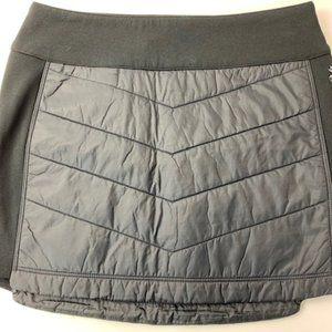 Women's Smart Wool Mini Skirt Black Quilted New S